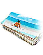 stack of pictures taken on a beach